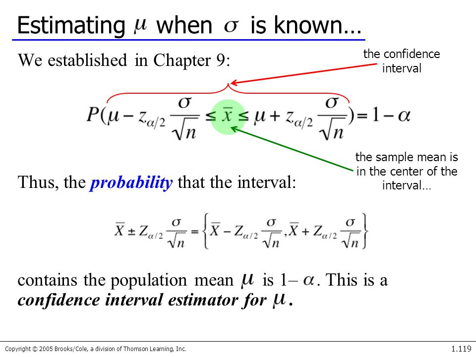 Estimating when is known…