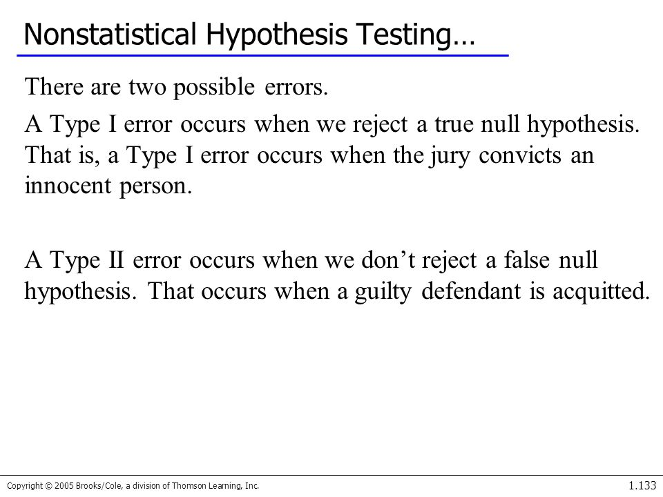 Nonstatistical Hypothesis Testing…