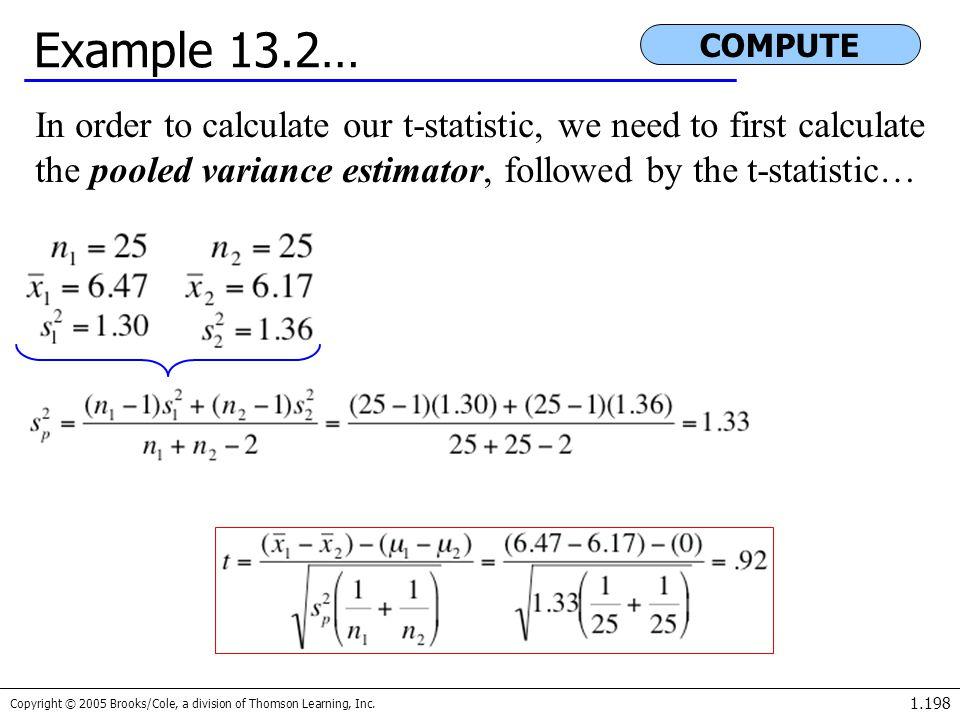 Example 13.2… COMPUTE.
