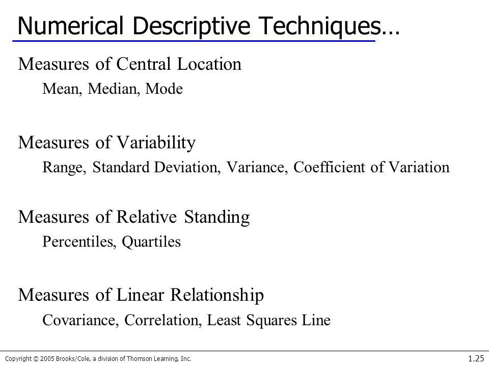 Numerical Descriptive Techniques…