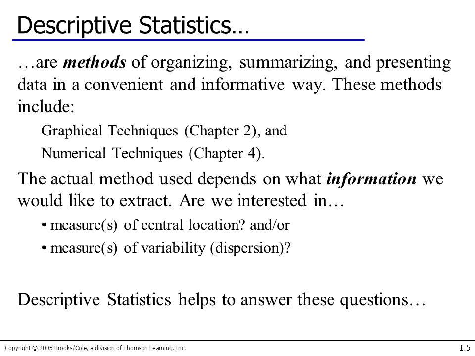 Descriptive Statistics…