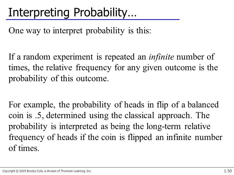 Interpreting Probability…