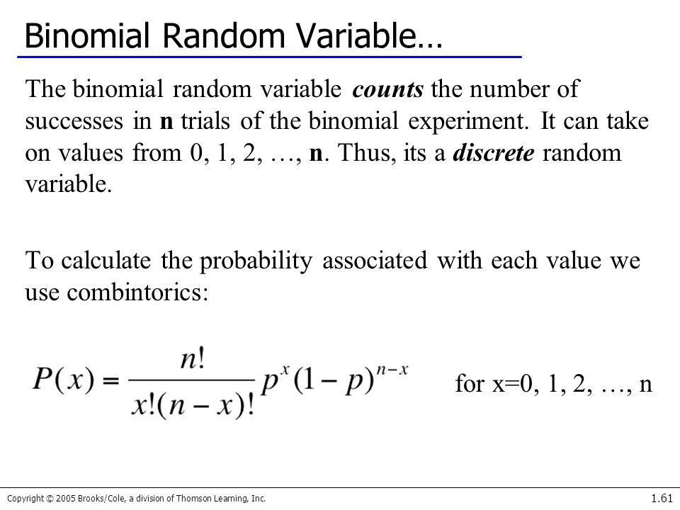 Binomial Random Variable…