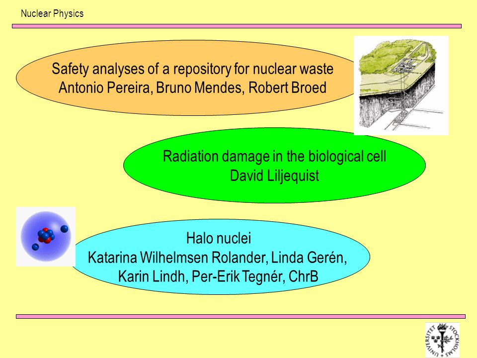 Safety analyses of a repository for nuclear waste