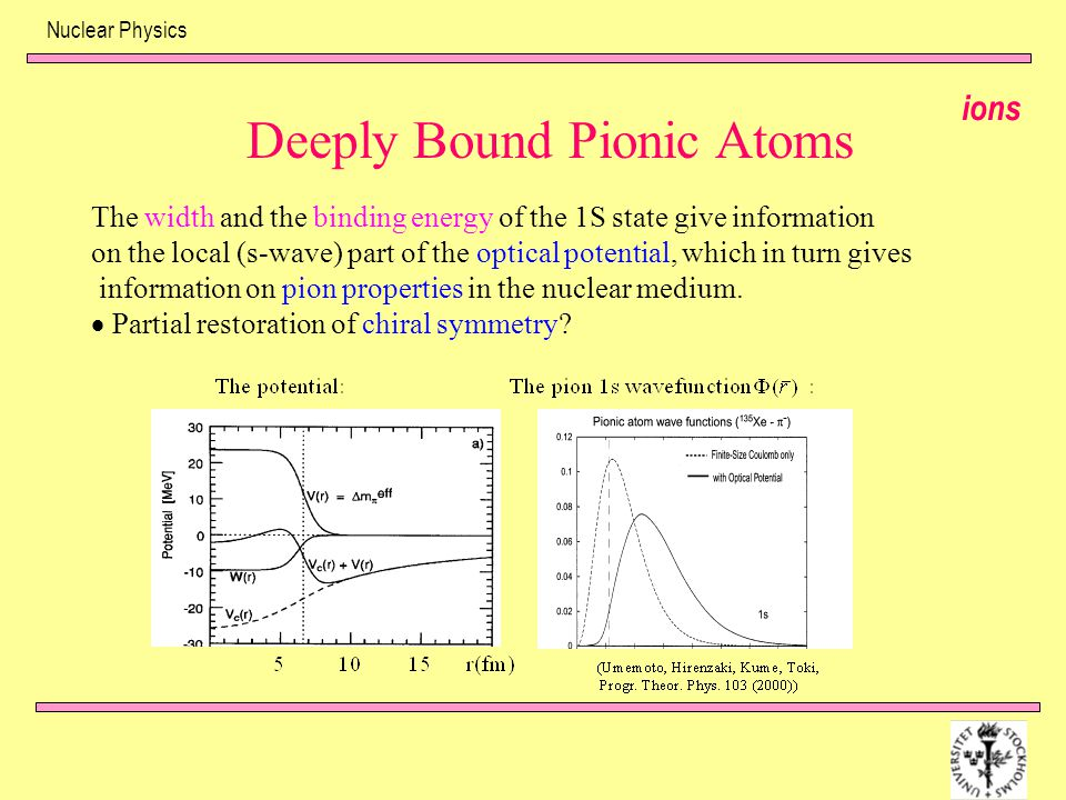 Deeply Bound Pionic Atoms