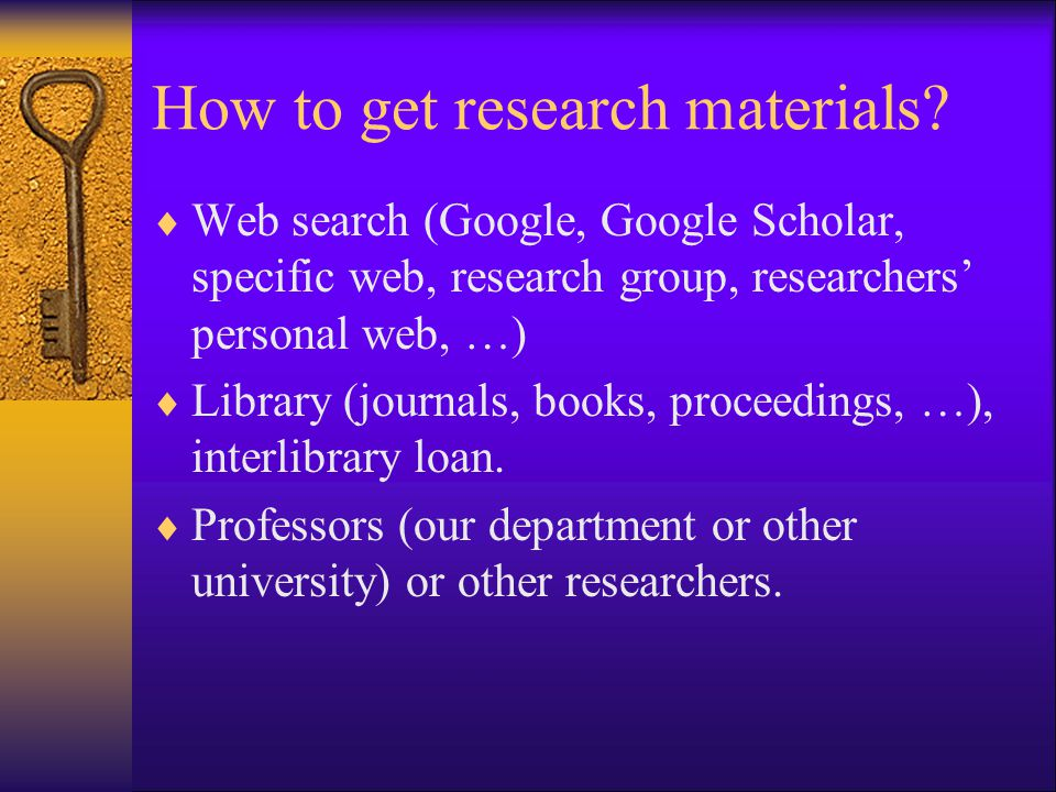 How to get research materials