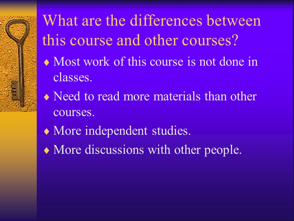 What are the differences between this course and other courses