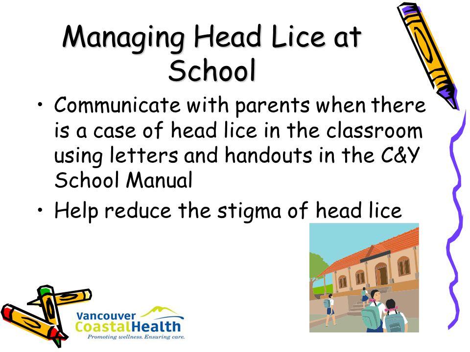 Managing Head Lice at School