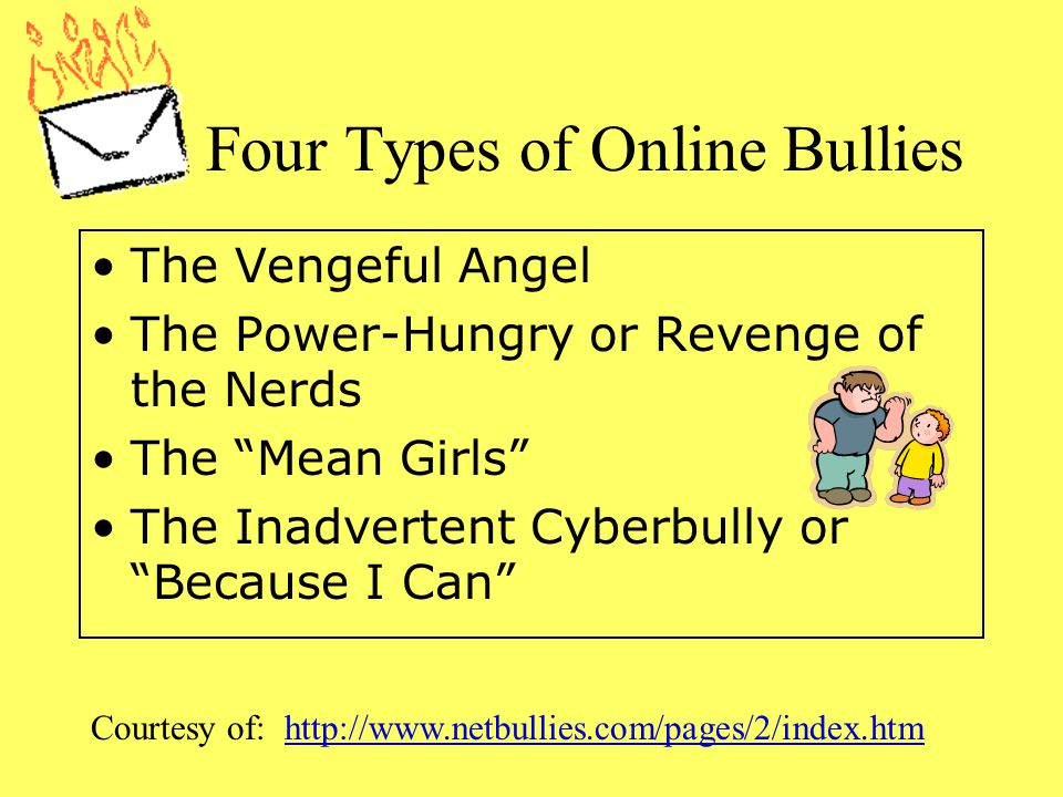 Four Types of Online Bullies