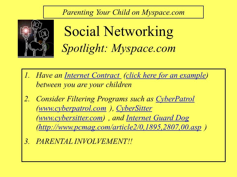 Parenting Your Child on Myspace.com
