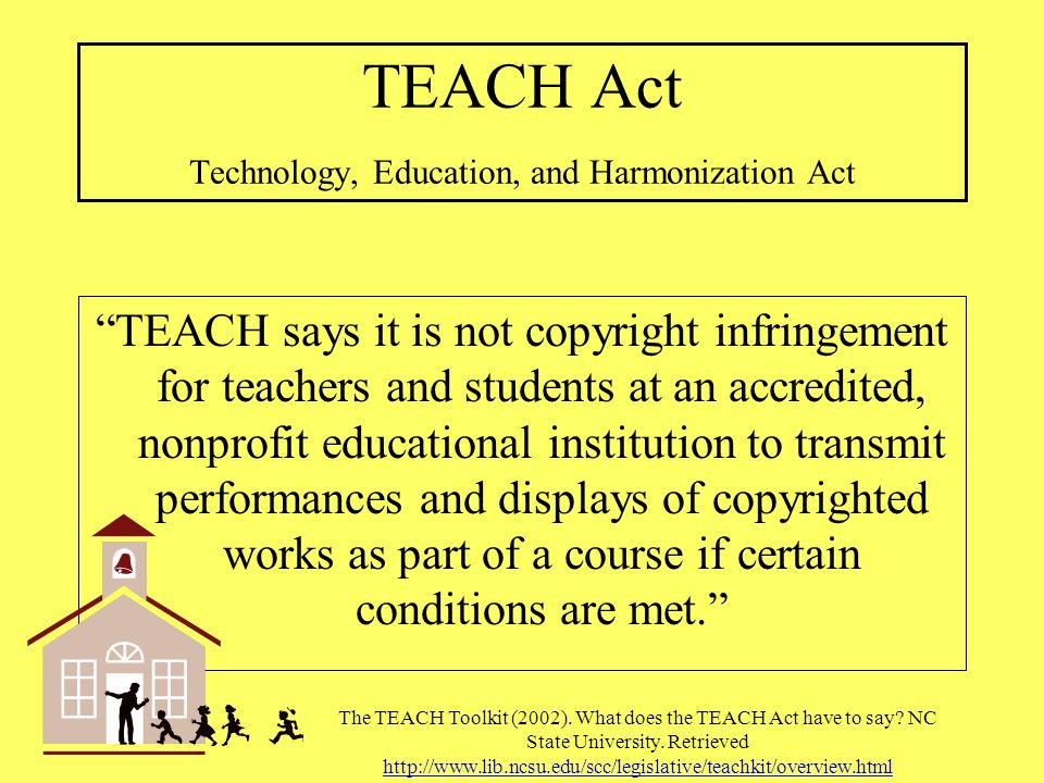 TEACH Act Technology, Education, and Harmonization Act