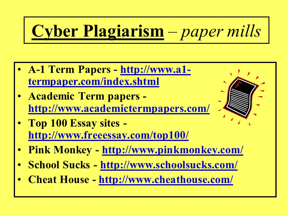 Cyber Plagiarism – paper mills