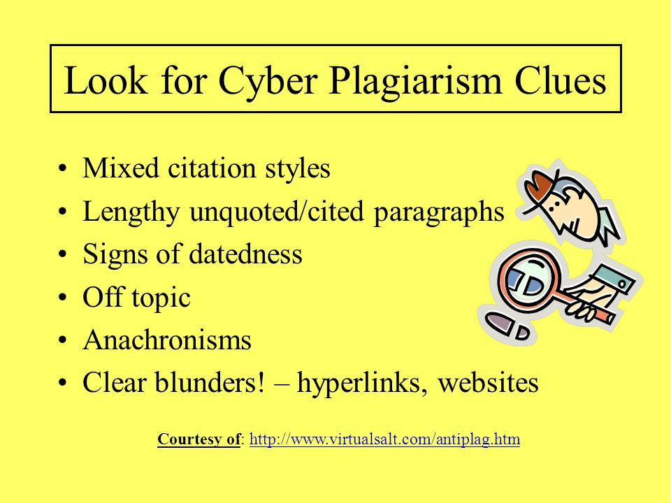 Look for Cyber Plagiarism Clues