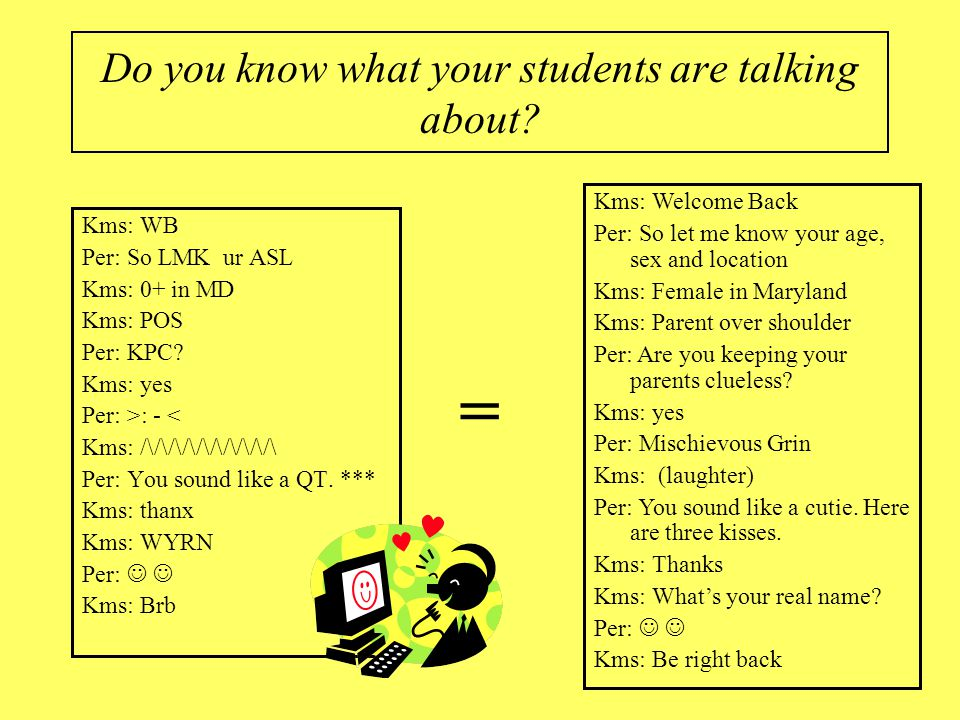 Do you know what your students are talking about