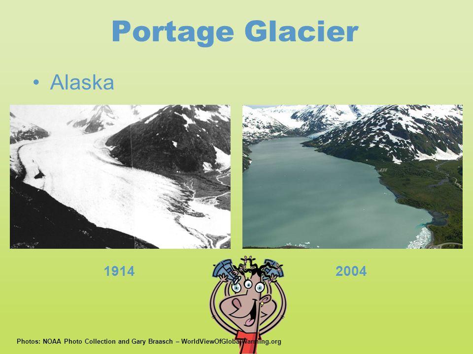 Portage Glacier Alaska 1914 2004