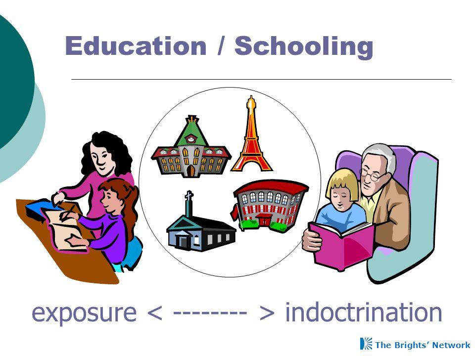 exposure < -------- > indoctrination