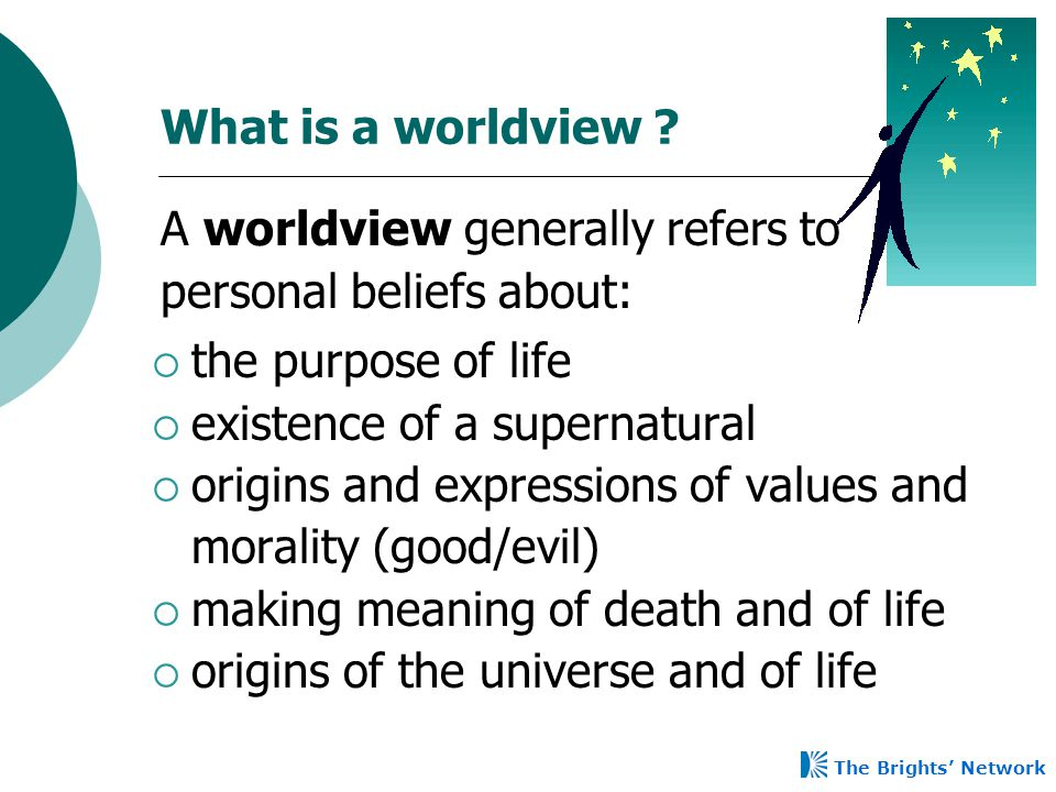 A worldview generally refers to personal beliefs about: