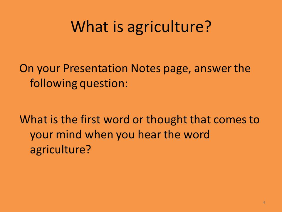Facets of Agriculture Introduction to Agriculture, Food, and Natural Resources. Unit 1 Lesson 1.1 Agriculture Everyday.