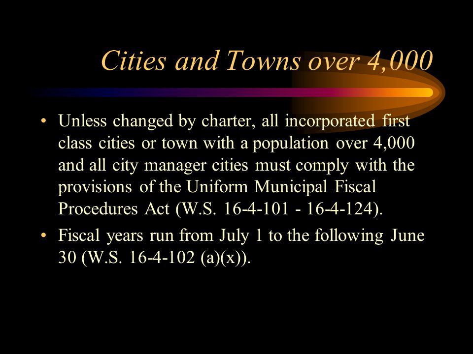 Cities and Towns over 4,000