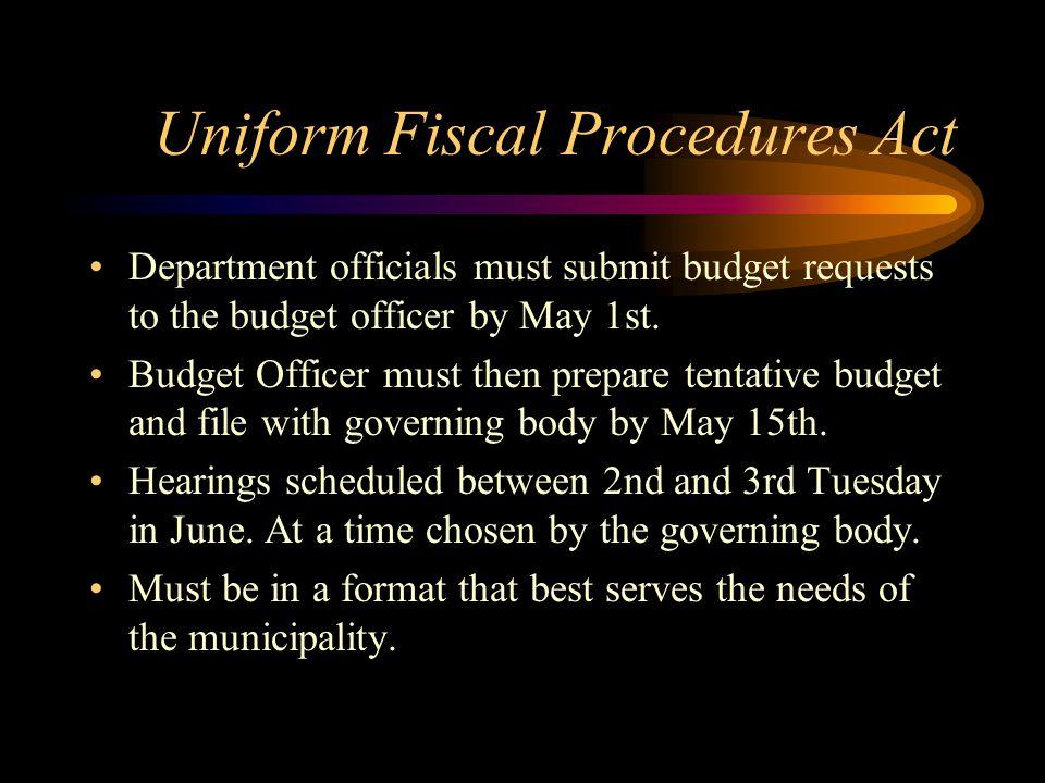 Uniform Fiscal Procedures Act