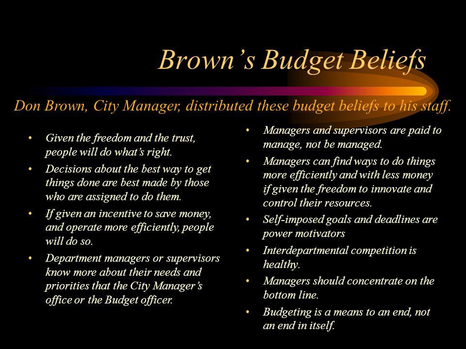 Brown's Budget Beliefs