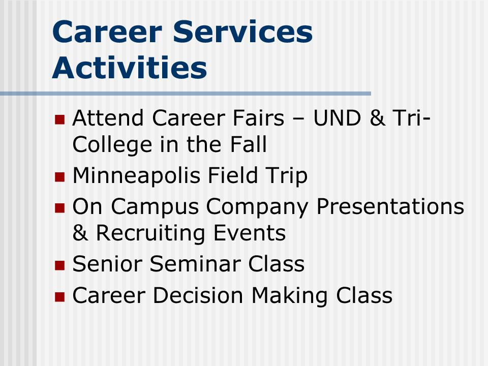 Career Services Activities