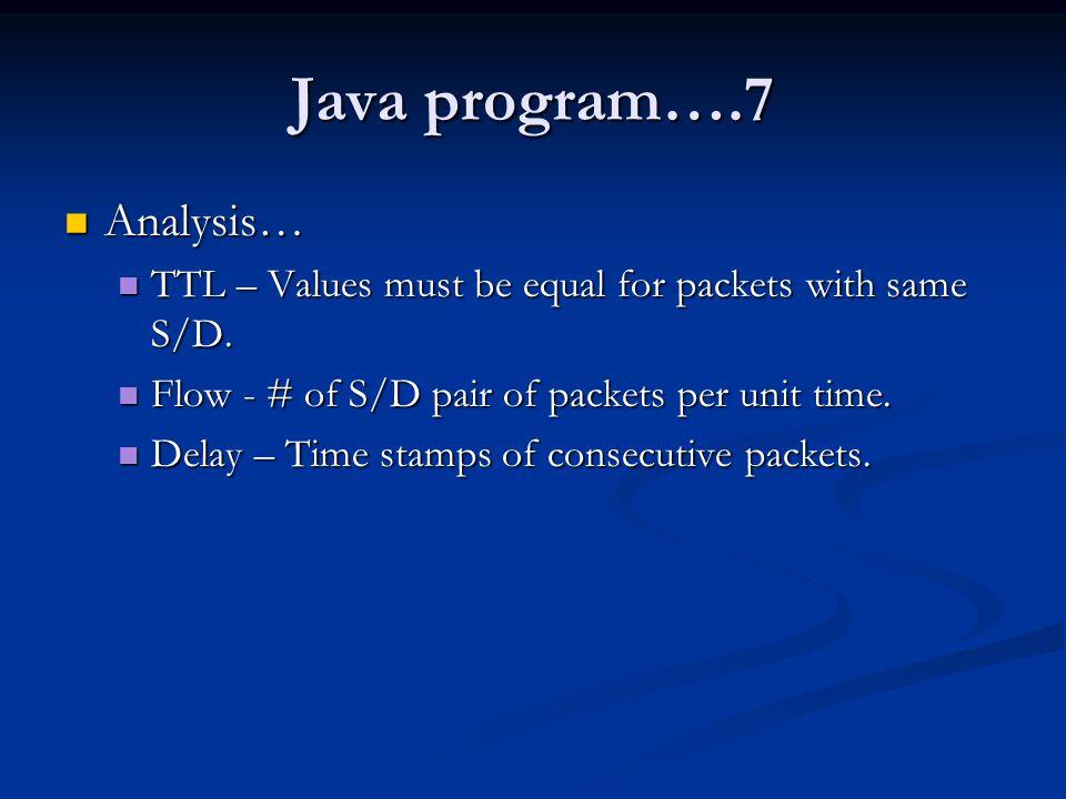 Java program….7 Analysis…