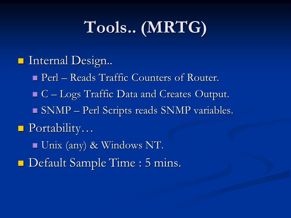 Tools.. (MRTG) Internal Design.. Portability…