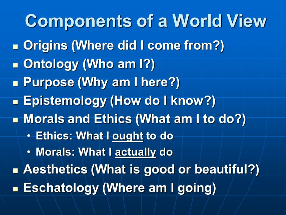 Components of a World View