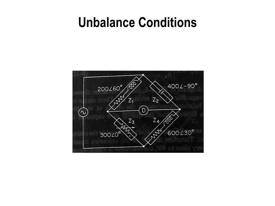 Unbalance Conditions