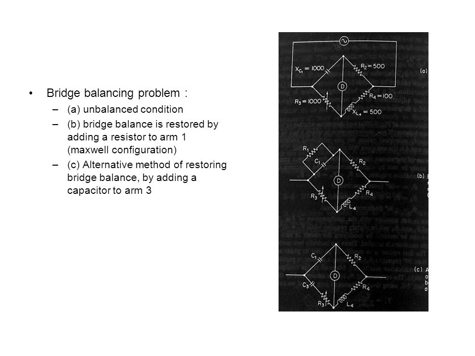 Bridge balancing problem :
