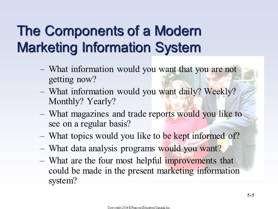 The Components of a Modern Marketing Information System