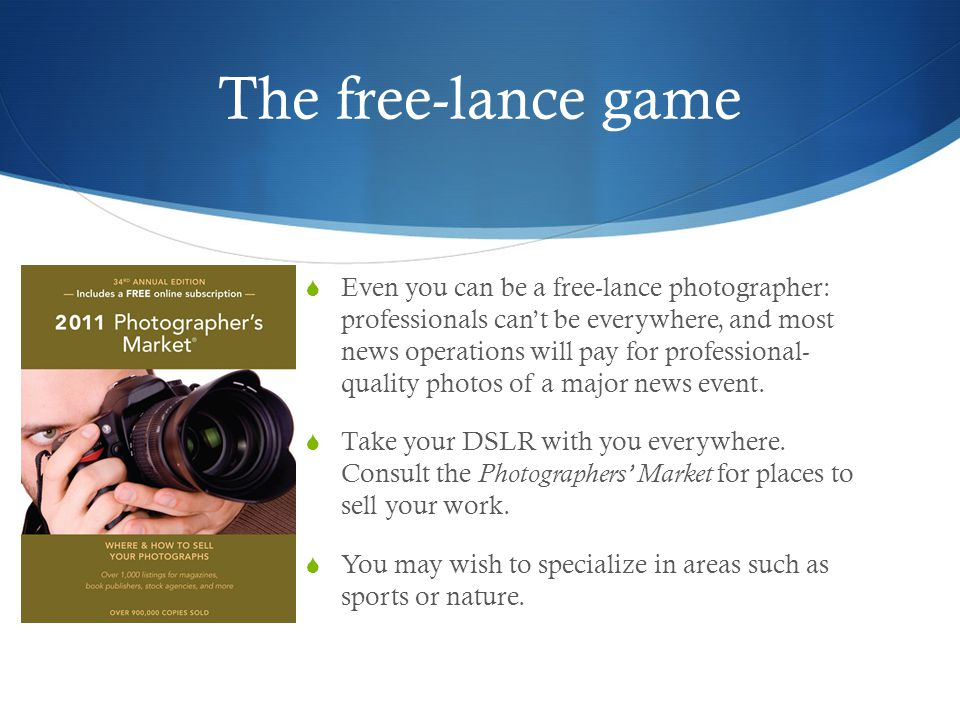 The free-lance game