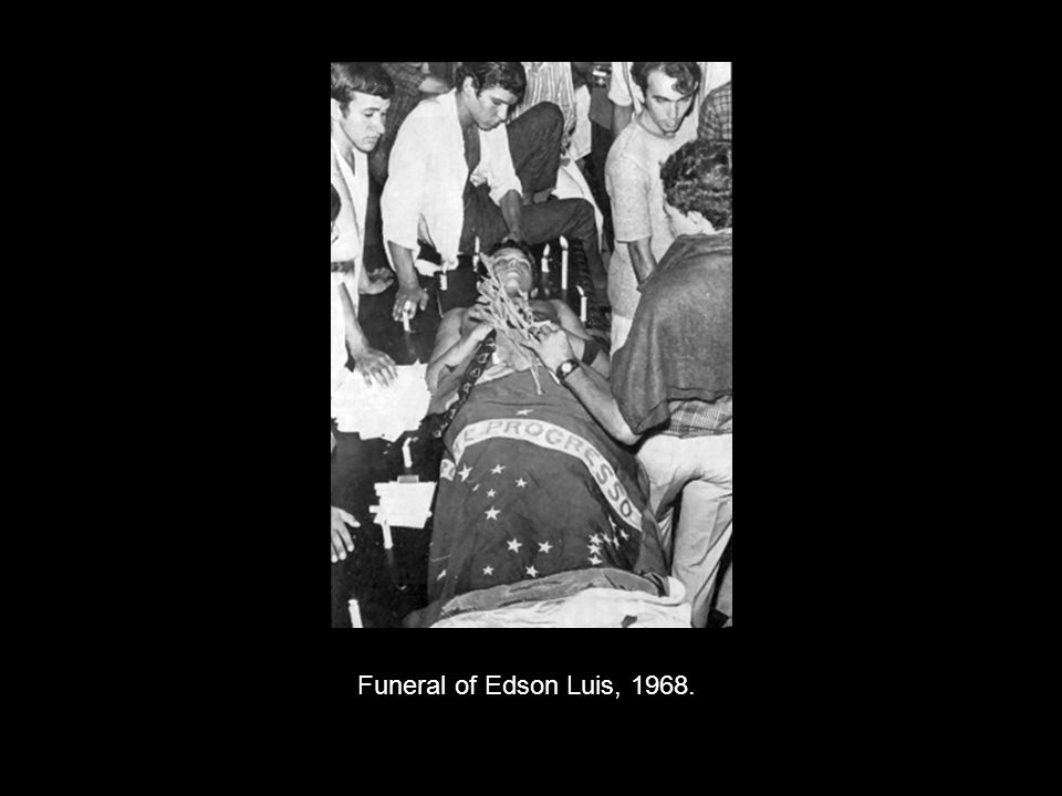 Funeral of Edson Luis, 1968.