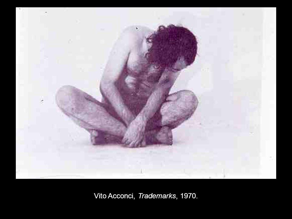 Vito Acconci, Trademarks, 1970.