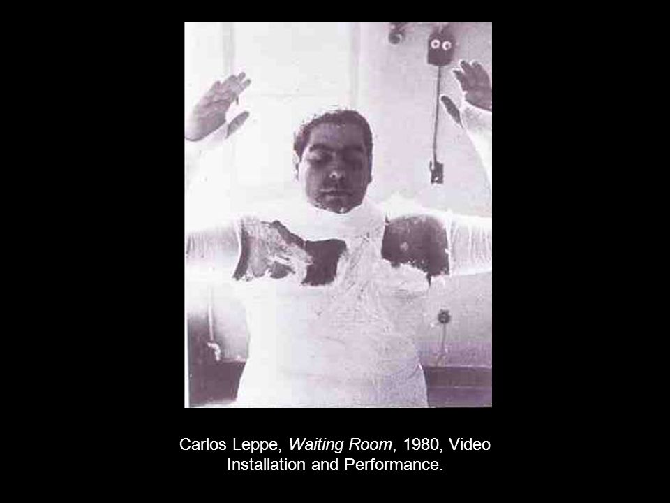 Carlos Leppe, Waiting Room, 1980, Video Installation and Performance.
