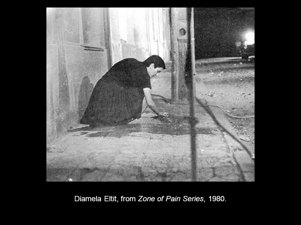 Diamela Eltit, from Zone of Pain Series, 1980.