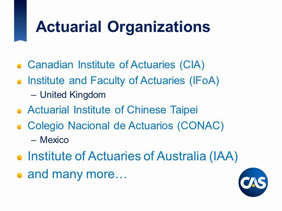 Actuarial Organizations