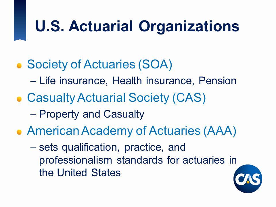 U.S. Actuarial Organizations