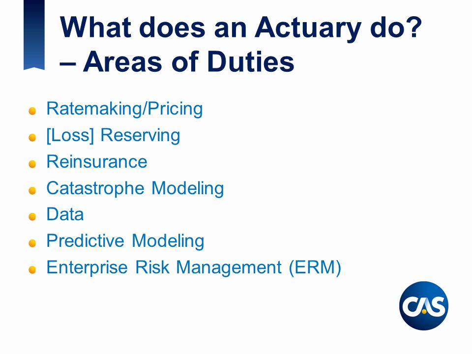 What does an Actuary do – Areas of Duties