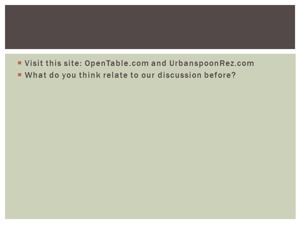 Visit this site: OpenTable.com and UrbanspoonRez.com