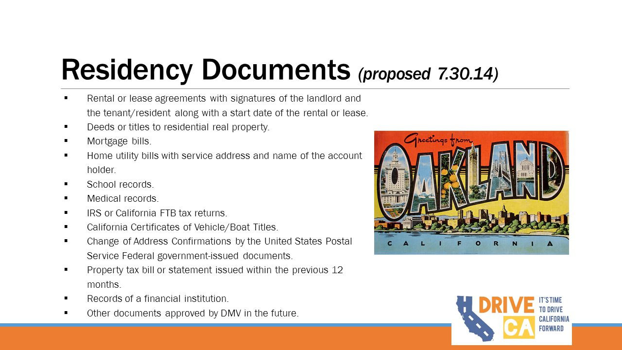 Residency Documents (proposed 7.30.14)