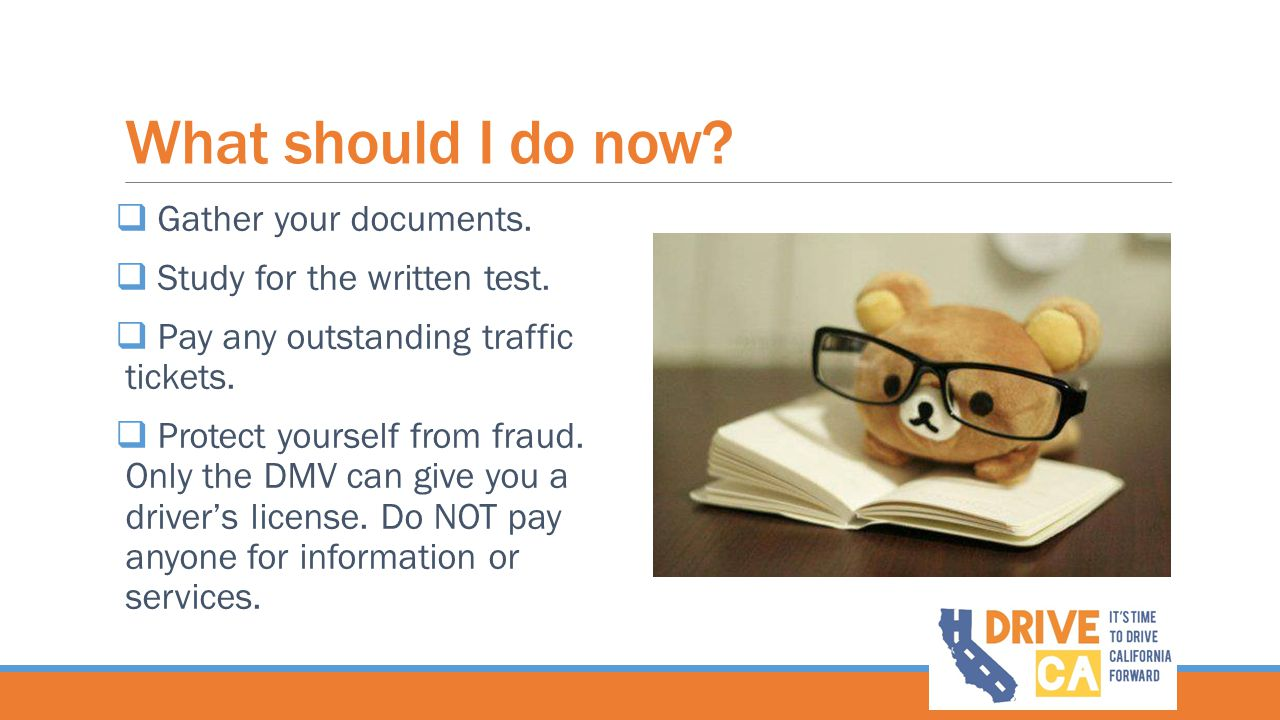 What should I do now Gather your documents.