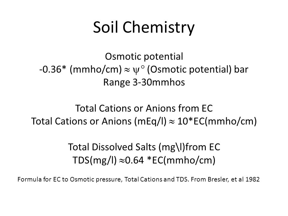 Soil Chemistry Osmotic potential