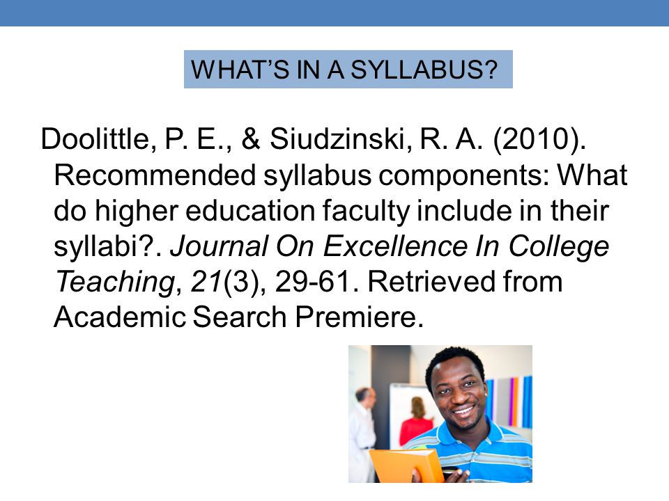 WHAT'S IN A SYLLABUS
