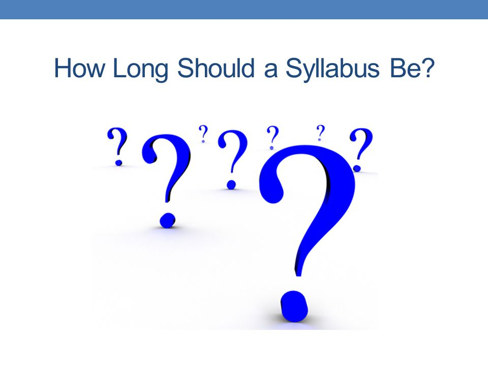 How Long Should a Syllabus Be
