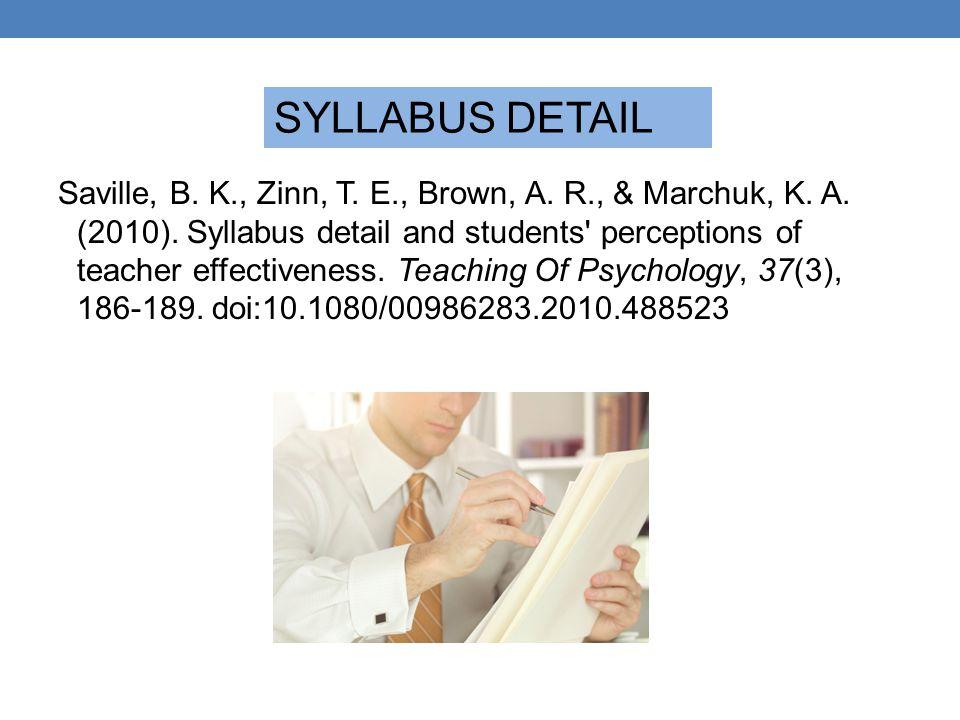 SYLLABUS DETAIL