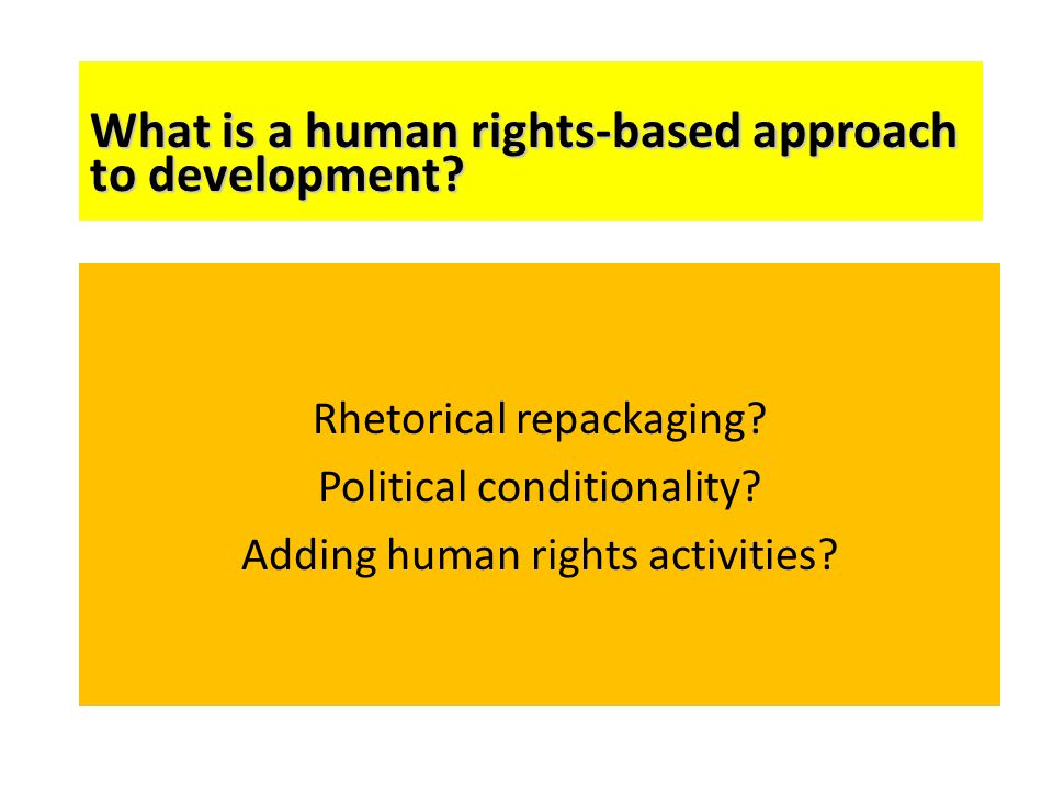 What is a human rights-based approach to development