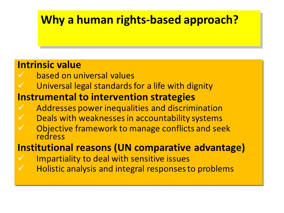 Why a human rights-based approach