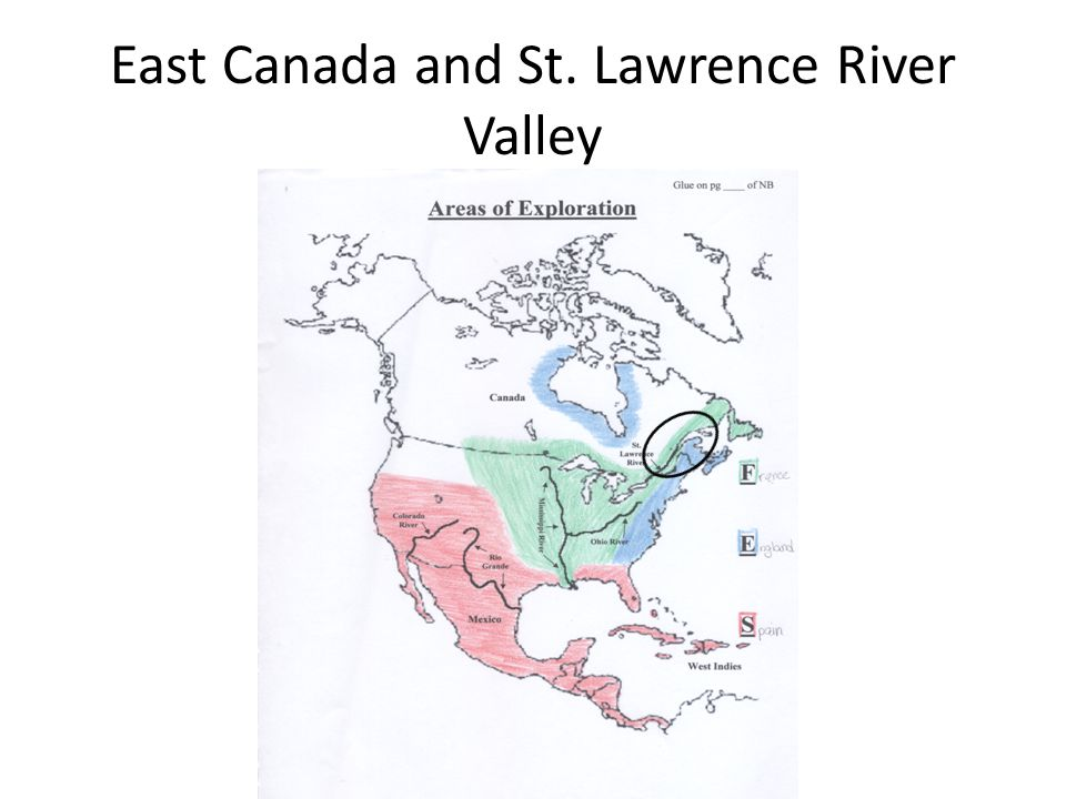 East Canada and St. Lawrence River Valley
